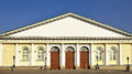 Moscow manege is large oblong building which gives its name to vast square Royalty Free Stock Photography