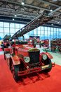 MOSCOW - MAR 09, 2018: Dennis 1929 fire truck at exhibition Ol Royalty Free Stock Photo