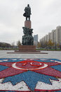 Moscow. Monument to Lenin in a full-length, made of bronze Royalty Free Stock Photo