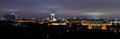 Moscow at night Panorama. Royalty Free Stock Photo