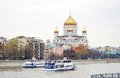 The Moscow panorama. Christ the Savior Church. Royalty Free Stock Images