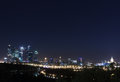 Moscow panorama  night Royalty Free Stock Photo