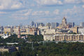 Moscow panoramic view from the top