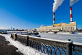 Moscow river embankment in winter Royalty Free Stock Photography
