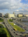 Moscow roads russia view from the russian white house Royalty Free Stock Image