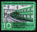 MOSCOW, RUSSIA - APRIL 2, 2017: A post stamp printed in DDR (Ger Royalty Free Stock Photo
