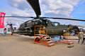 Moscow russia aug attack helicopter mi havoc present presented at the th maks international aviation and space show on august in Royalty Free Stock Images