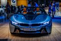 MOSCOW, RUSSIA - AUG 2012: BMW I8 CONCEPT SPYDER presented as wo Royalty Free Stock Photo