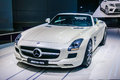 Moscow russia aug mercedes benz sls amg coupe c presented as world premiere at the th mias moscow international auto automobile Stock Photo