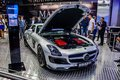 Moscow russia aug mercedes benz sls amg roadster brabus presented as world premiere at the th mias international automobile Royalty Free Stock Images