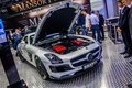 Moscow russia aug mercedes benz sls amg roadster brabus presented as world premiere at the th mias international automobile Royalty Free Stock Photo