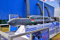 MOSCOW, RUSSIA - AUG 2015: supersonic cruise missile BrahMos pre Royalty Free Stock Photo