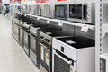 Moscow, Russia - February 02. 2016. cookers  in Eldorado, large chain stores selling electronics Royalty Free Stock Photo