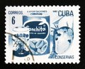 MOSCOW, RUSSIA - JULY 15, 2017- A stamp printed in Cuba shows ti
