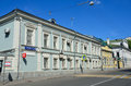 Moscow, Russia, June, 12, 2017, The old mansion in Podsosensky lane, 28 Royalty Free Stock Photo