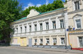 Moscow, Russia, June, 12, 2017, Old mansion in Serebryanichesky lane, the house 7 Royalty Free Stock Photo