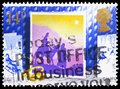 Journey to Bethlehem, Christmas 1988 - Christmas Cards serie, circa 1988 Royalty Free Stock Photo