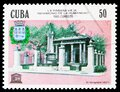 Postage stamp printed in Cuba shows El Templete (1827), UNESCO World Heritage - Old Havana serie, circa 1985 Royalty Free Stock Photo