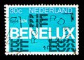 BENELUX sign, serie, circa 1974 Royalty Free Stock Photo