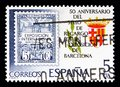 50th Anniversary, Exhibition of Barcelona, Philately serie, circ Royalty Free Stock Photo