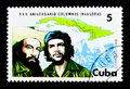 Map of Cuba, Fidel and Cienfuegos, Revolutionary Invasion Forces Royalty Free Stock Photo