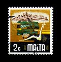 Agriculture, Aspects of Malta serie, circa 1973 Royalty Free Stock Photo