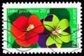 Postage stamp printed in France shows Thought - Affection, Say it with flowers serie, Prioritaire 20 Gr. - Gram, circa 2012 Royalty Free Stock Photo