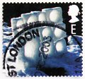 Postage stamp printed in United Kingdom shows Ice Wall, Christmas 2003 - Ice Sculptures serie, circa 2003