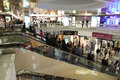 Moscow russia underground shopping center okhotny ryad oct on october in central district of there are more stores Stock Images