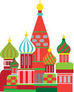 Moscow russian onion dome illustration cathedral of the annunciation kremlin Stock Photography