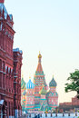 Moscow s red square at dawn Royalty Free Stock Photography