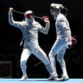 Moscow Saber World Fencing Tournament Stock Image