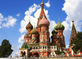 Moscow. Saint Basil`s Cathedral Royalty Free Stock Photo