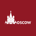 Moscow saint basil s cathedral in simple and clean icon representation Stock Photos