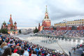 Moscow september spectators presidential orchestra russia honor guard presidential regiment military music festival spasskaya Stock Photos