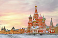 Moscow, St. Basil's Cathedral Royalty Free Stock Photo