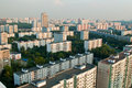 Moscow suburb city buildings Royalty Free Stock Images