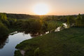 Moscow suburbs in the evening birds eye view Stock Photography