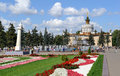 Moscow, View of the Fountain Stone Flower and Pavilion Ukraine Royalty Free Stock Photo