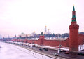 Moscow winter Kremlin Stock Photo