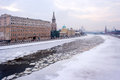 Moscow winter river Stock Photography