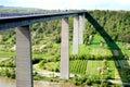 Mosel Bridge Winningen, part of the autobahn Royalty Free Stock Photo