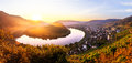 Moselle river bend Royalty Free Stock Photo