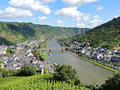 Moselle river and Cochem town in Germany Royalty Free Stock Photo