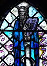 Moses and the commandments a stained glass photo of Royalty Free Stock Photography