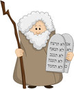 Moses holding the ten commandments vector illustration of Royalty Free Stock Photography