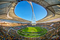 Moses mabhida stadium world cup was one of the stadiums used during the Royalty Free Stock Photos