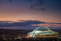Moses mabhida stadium world cup was one of the stadiums used during the Stock Image