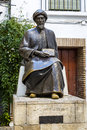Moses maimonides cordoba statue of the jewish scholar rabbi mosheh ben maimon andalusia spain Stock Image