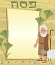 Moses note passover banner with decorative background and standing next to it eps Stock Photos